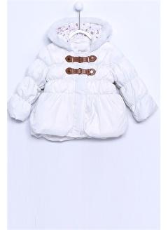 Silversun Kids Kürklü Şapkalı Şişme Bebek Kız Mont Mc 7167